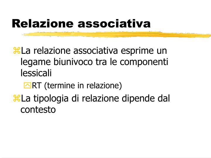 Relazione associativa