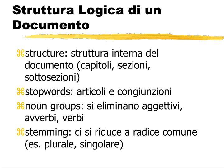 Struttura Logica di un Documento