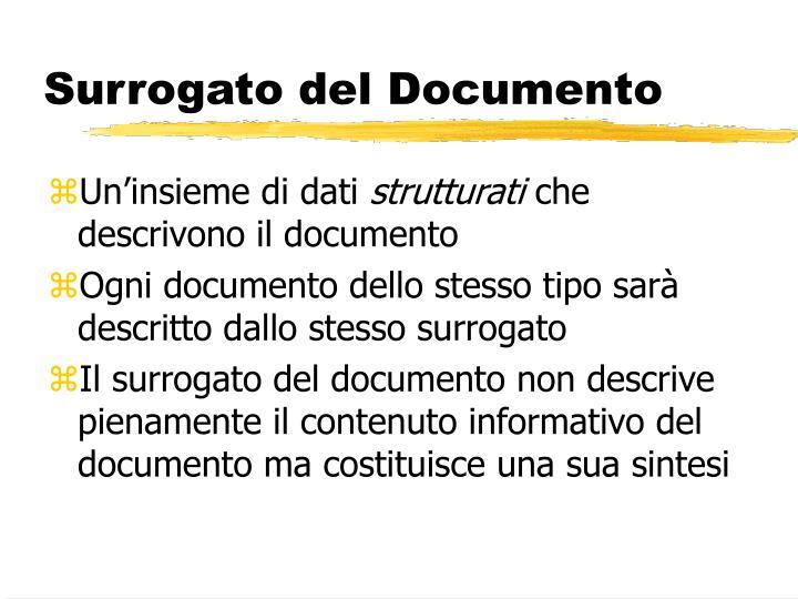 Surrogato del Documento