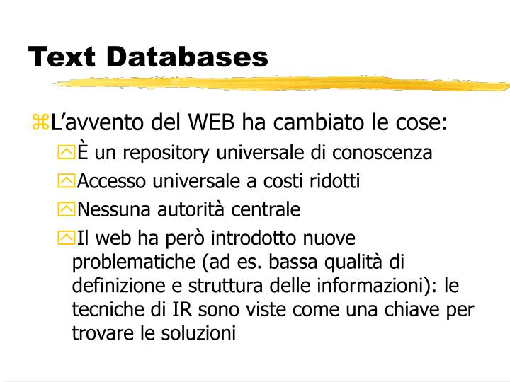 Text Databases