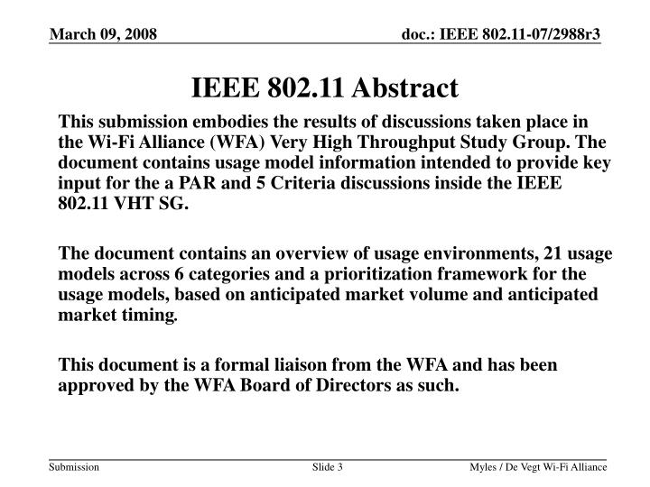 IEEE 802.11 Abstract