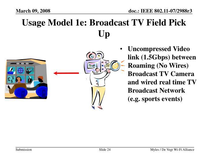 Usage Model 1e: Broadcast TV Field Pick Up