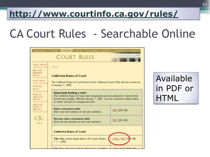 http://www.courtinfo.ca.gov/rules/