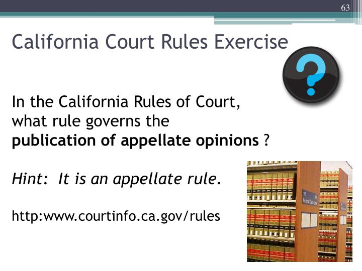 California Court Rules Exercise