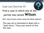 case law exercise 3