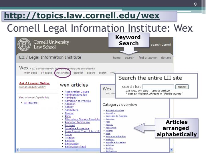 http://topics.law.cornell.edu/wex