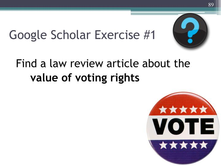 Google Scholar Exercise #1