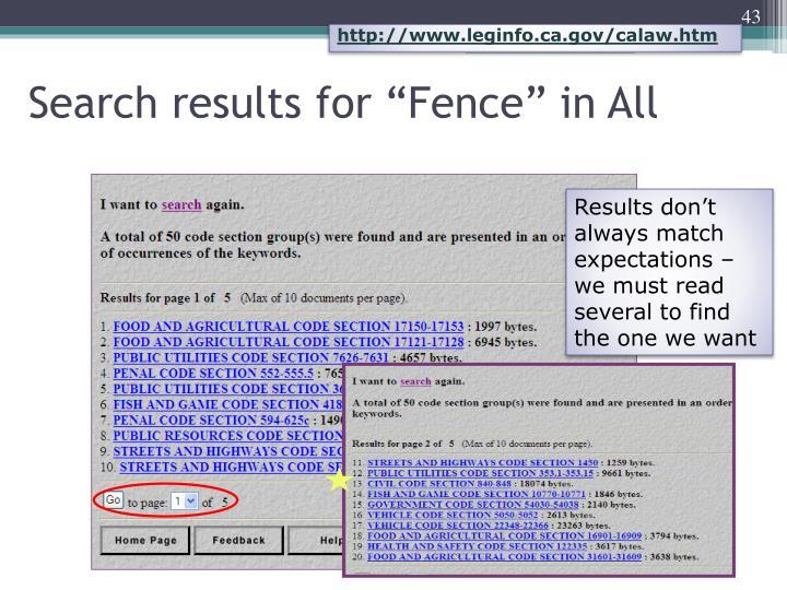 http://www.leginfo.ca.gov/calaw.htm