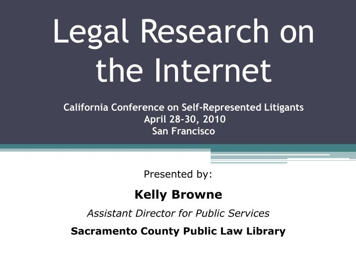 Legal Research on