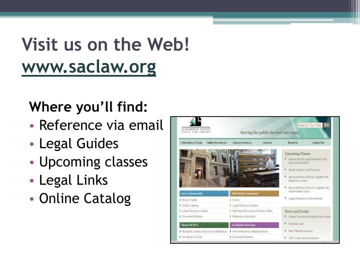 Visit us on the Web!