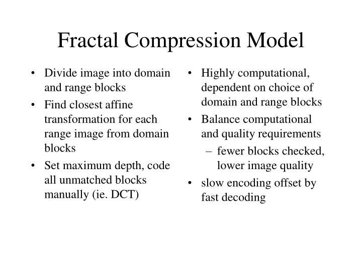 Divide image into domain and range blocks