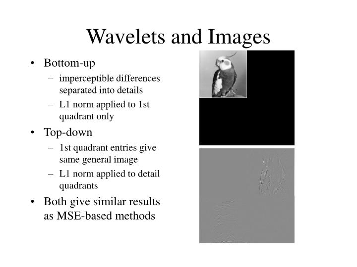 Wavelets and Images