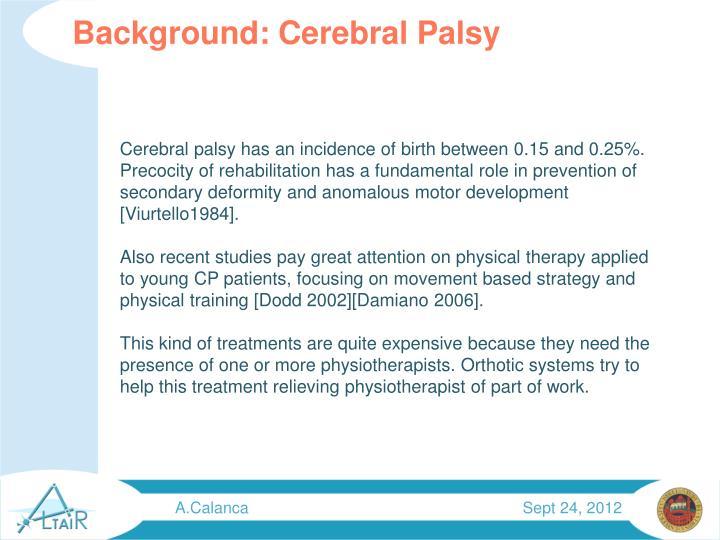 Background: Cerebral Palsy