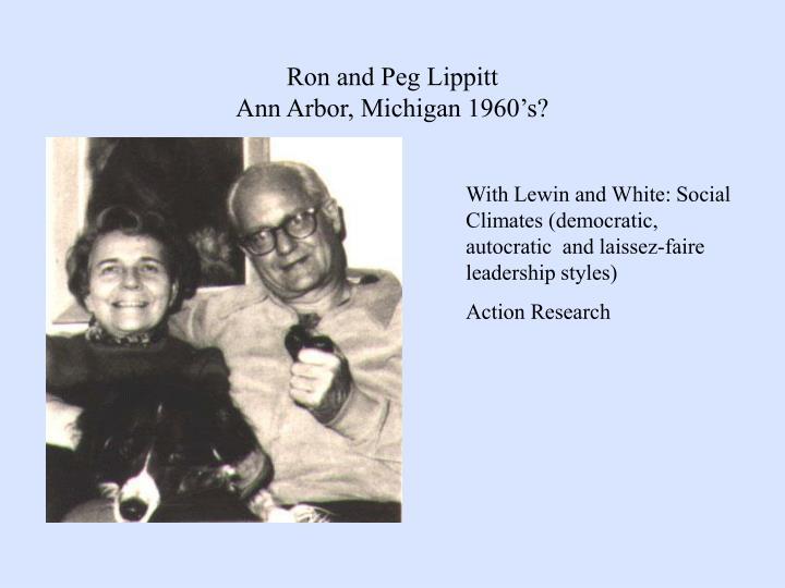Ron and Peg Lippitt