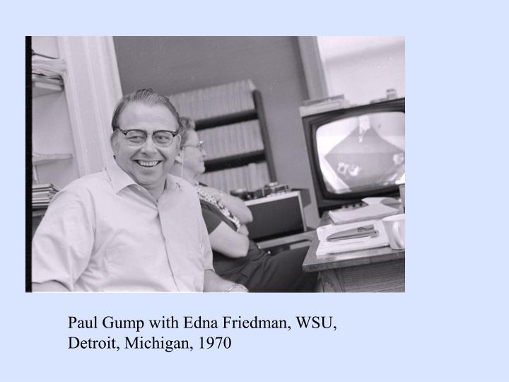 Paul Gump with Edna Friedman, WSU,