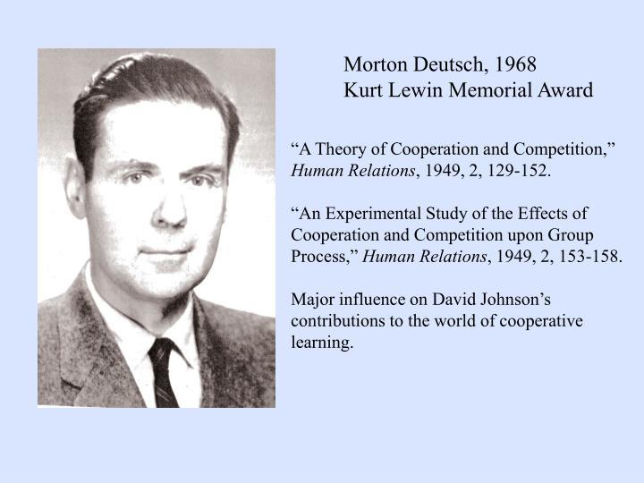 Morton Deutsch, 1968