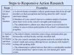 steps to responsive action research
