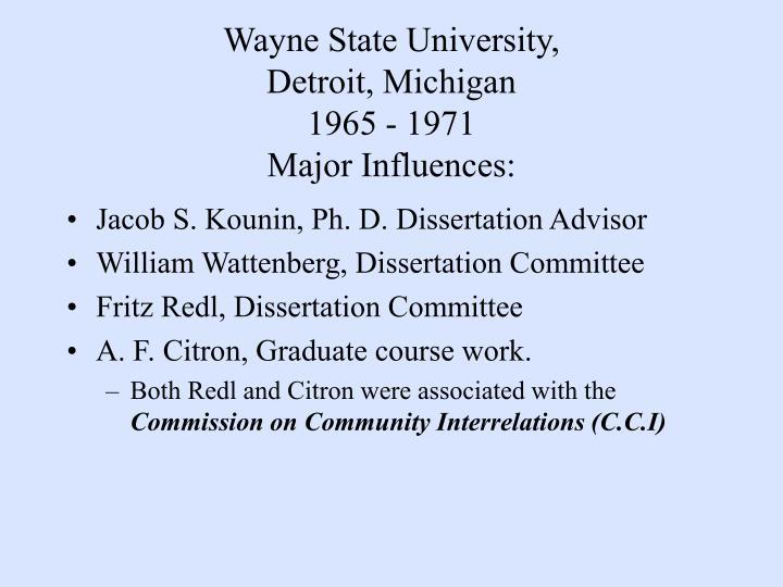 Wayne State University,