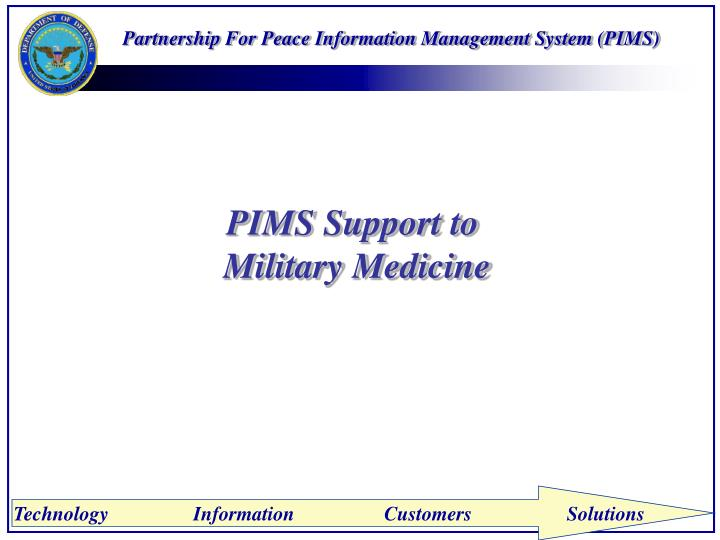Partnership For Peace Information Management System (PIMS)