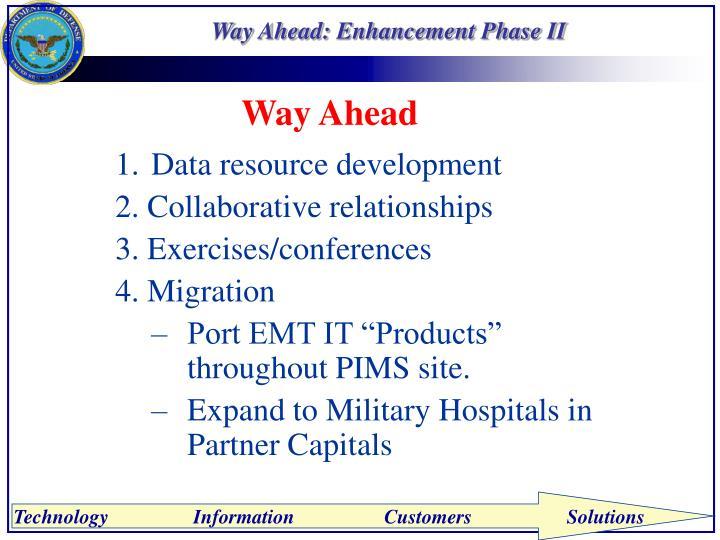 Way Ahead: Enhancement Phase II