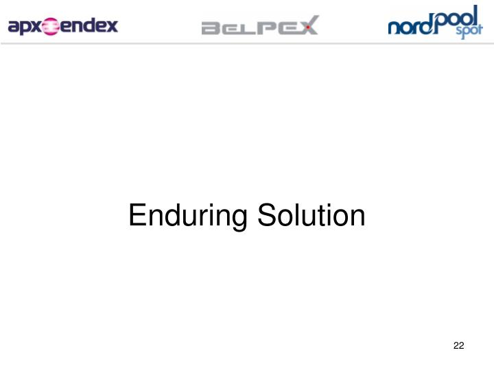 Enduring Solution