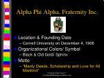 alpha phi alpha fraternity inc