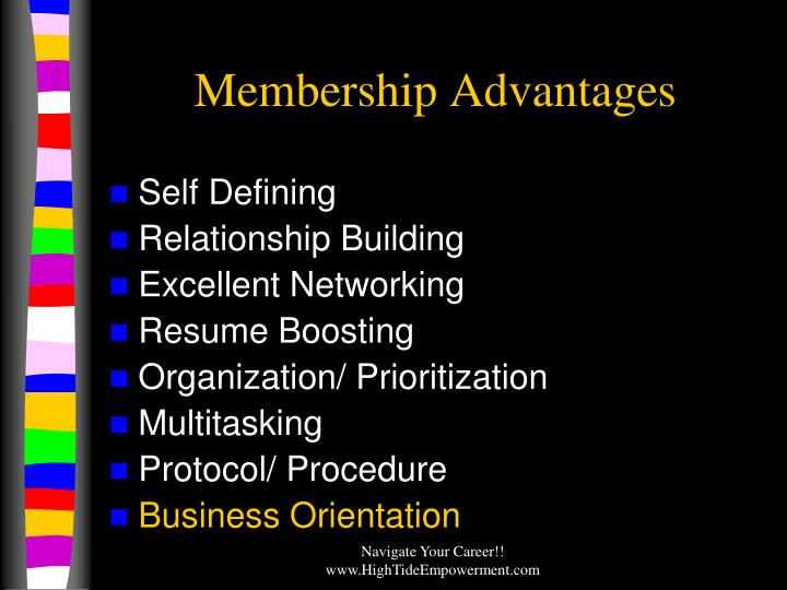 Membership Advantages