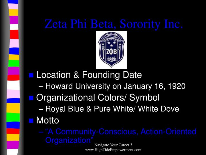 Zeta Phi Beta, Sorority Inc.