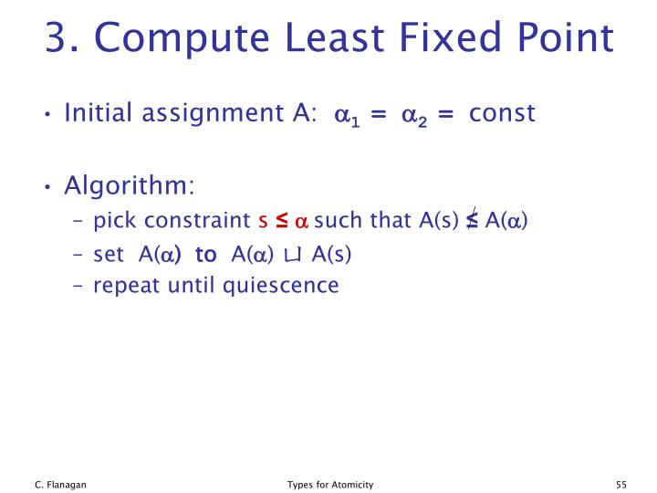 3. Compute Least Fixed Point