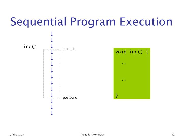 Sequential Program Execution