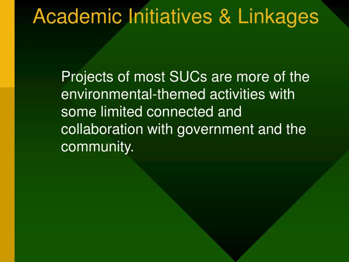 Academic Initiatives & Linkages