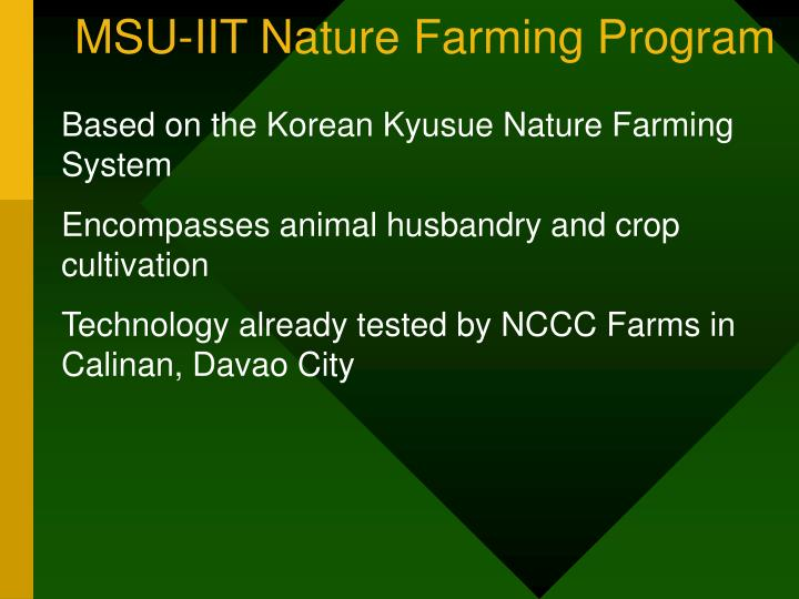 MSU-IIT Nature Farming Program