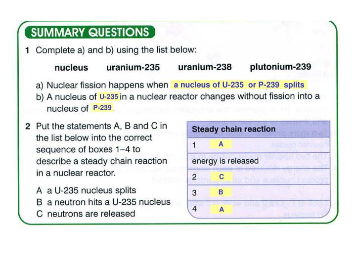 a nucleus of U-235  or P-239  splits