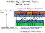 the revised 2 layered 2 views bridg model