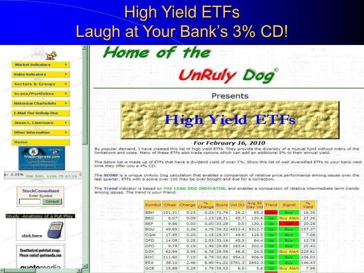 High Yield ETFs