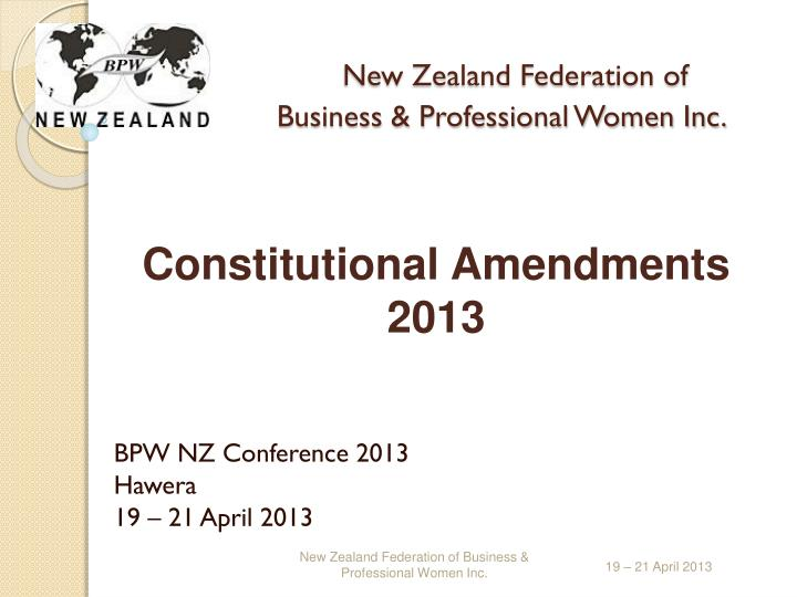 New zealand federation of business professional women inc