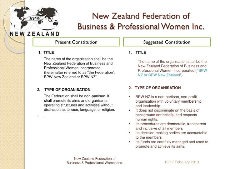 New zealand federation of business professional women inc1