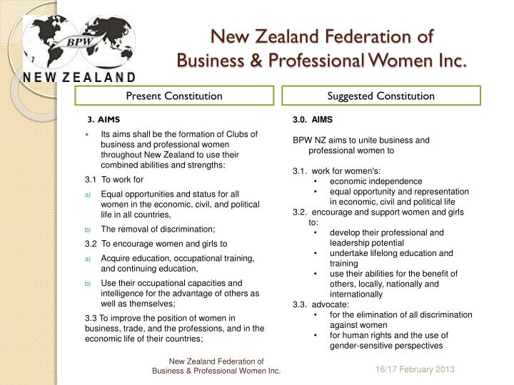 New zealand federation of business professional women inc2