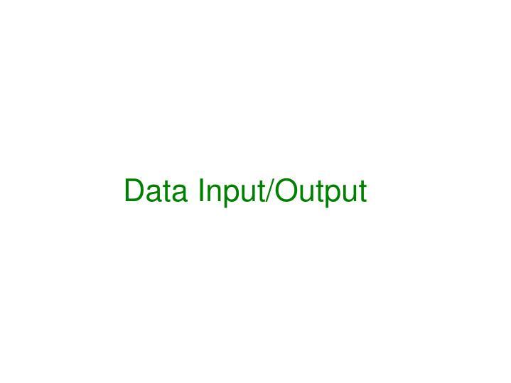 Data Input/Output