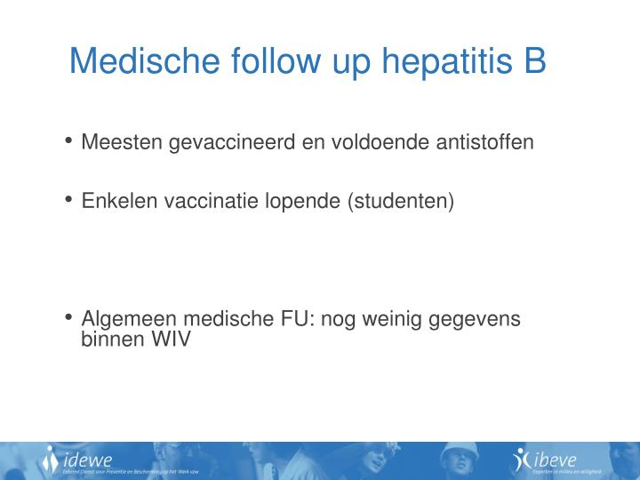 Medische follow up hepatitis B