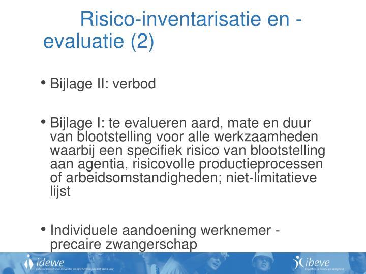 Risico-inventarisatie en -evaluatie (2)