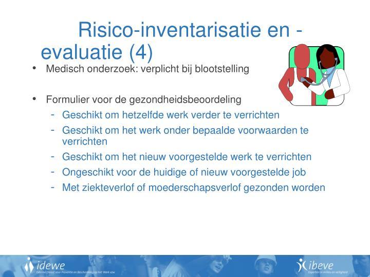 Risico-inventarisatie en -evaluatie (4)