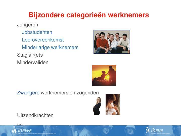 Bijzondere categorieën werknemers