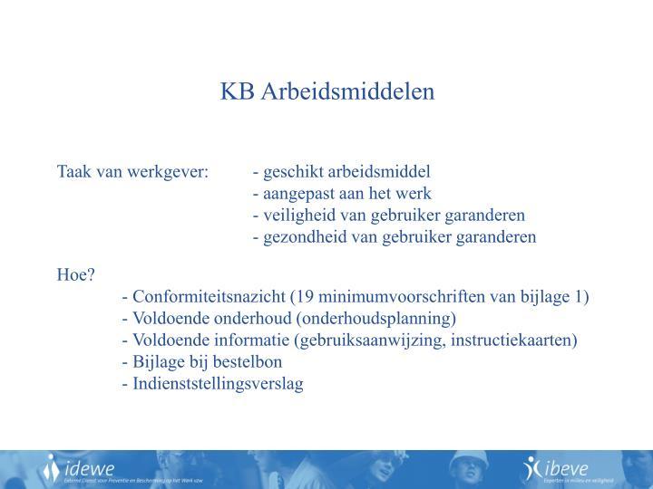 KB Arbeidsmiddelen