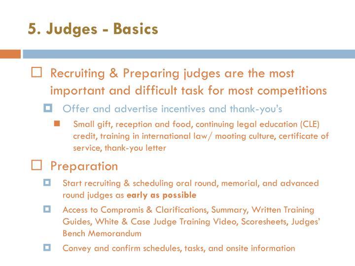 5. Judges - Basics