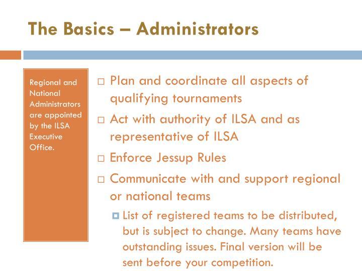 The Basics – Administrators