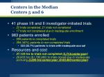 centers in the median centers 5 and 61