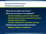 protocol performance metrics framework