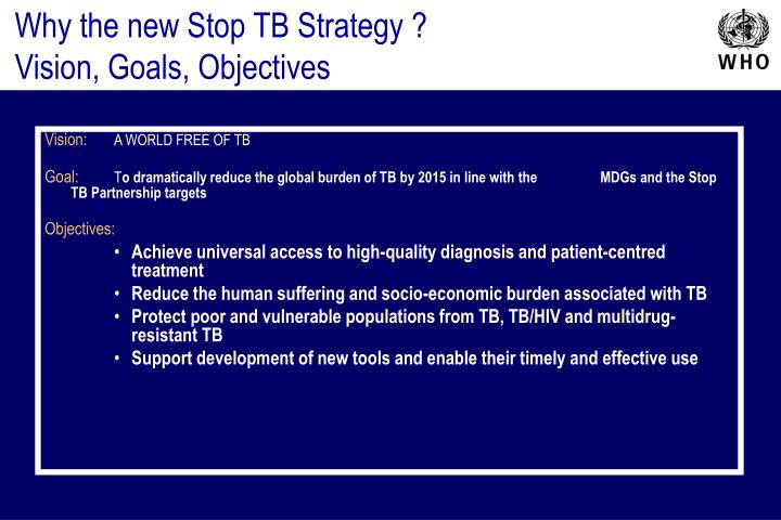 Why the new Stop TB Strategy ?