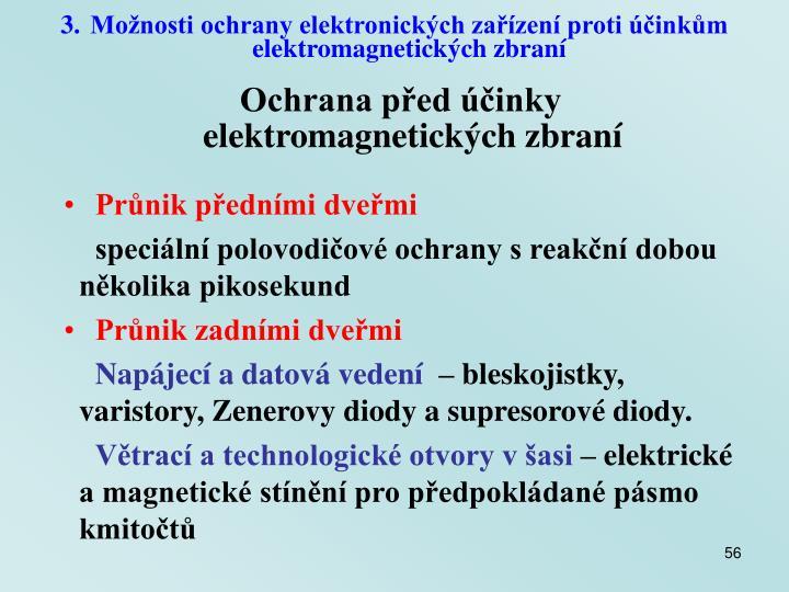 Možnosti ochrany elektronických zařízení proti účinkům elektromagnetických zbraní